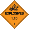 1.1D DOT Explosive Placards