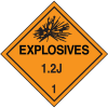 1.2J DOT Explosive Placards
