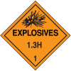 1.3H DOT Explosive Placards