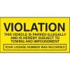 Parking Control Labels - Violation This Vehicle Is Parked Illegally