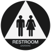 California Code ADA Rest Room Signs - Black