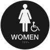 California  Code ADA Women's Rest Room Signs - Black