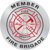 Emergency Response Hard Hat Decals- Fire Brigade