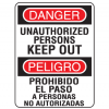 Unauthorized Persons Keep Out English-Spanish Security Signs