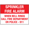Sprinkler Fire Alarm When Bell Rings Signs