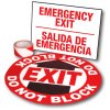 Exit Path Marking Kits - Emergency Exit (Bilingual)