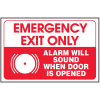 Emergency Exit Only Sign - Polished Plastic Sign