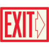 Exit with Right Arrow - Photoluminescent Sign