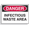 Danger Infectious Waste Area First Aid Safety Signs