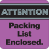 Attention Packing List Enclosed Fluorescent Labels