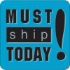 Must Ship Today Fluorescent Attention Getting Labels