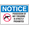 Gun Prohibition Signs - Possession