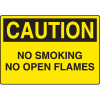 Harsh Condition OSHA Signs - Caution - No Smoking No Open Flames