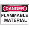Hazard Warning Labels - Danger Flammable Material