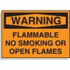 Hazard Warning Labels - Flammable, No Smoking Or Open Flames