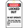 Heavy-Duty Lockout Tags - Danger Locked Out