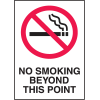 No Smoking Beyond This Point Signs - Aluminum or Plastic Sign (w/Graphic)