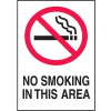 No Smoking In This Area Sign - Aluminum, Plastic or Vinyl Sign (w/Graphic)
