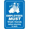 Employees Must Wash Hands Interior Signs