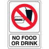 No Food Or Drink Interior Signs