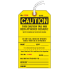 Jumbo Cardstock Tear-Off Safety Tags - Caution Tag Attached Because