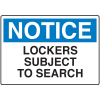 Locker Signs - Lockers Subject To Search