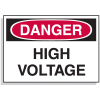 Lockout Hazard Warning Labels- Danger High Voltage