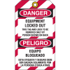 Lockout Tag- Equipment Locked Out Equipo Bloqueado