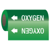 Medical Gas Self-Adhesive Pipe Markers-On-A-Roll - Oxygen
