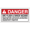 NEC Arc Flash Labels On-A-Roll - Arc Flash & Shock Hazard