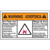 NEC Arc Flash Labels On-A-Roll - Arc Flash And Shock Hazard (Warning/Advertencia)