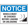 OSHA Notice Signs - Notice Wheels Must Be Chocked