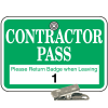 Numbered Badge Sets - Contractor Pass - Clip-On