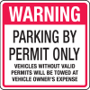Parking Permit Signs - Parking By Permit Only