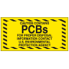PCB Labels - Caution Contains PCBs