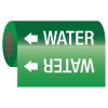 Self-Adhesive Pipe Markers-On-A-Roll - Water