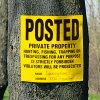 Posted Private Property Signs