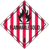 DOT Flammable Solid Hazard Class 4 Material Shipping Labels