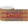 Printed Kraft Reinforced Tape - Caution