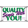 Quality Starts With You Productivity Banners