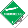 Non-Flammable Gas UN1956 DOT Shipping Labels