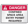 Reflective Confined Space Signs - Danger - Entry Permit Required