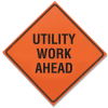 Roll Up Signs - Utility Work Ahead