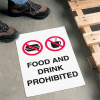 Safety Floor Signs- Food And Drink Prohibited (With Graphic)