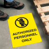 Safety Floor Signs- Authorized Personnel Only (With Graphic)
