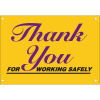 Thank You for Working Safely Safety Slogan Wallcharts