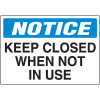 Security & Door Labels- Keep Closed