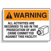 Security Camera Signs -  Warning