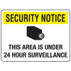 Security Floor Markers - Area Under 24 Hour Surveillance