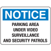 Security Floor Markers - Parking Area Under Surveillance and Security Patrols